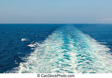 ébred, csónakázik, tenger