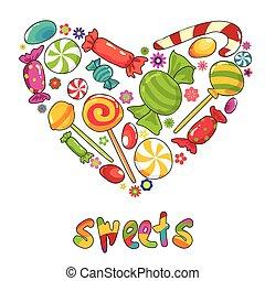édesség, szív