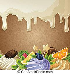édesség, white háttér, csokoládé