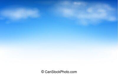ég, háttér, elhomályosul, kék