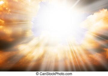 ég, nap, -, küllők, vallás, fogalom, ég