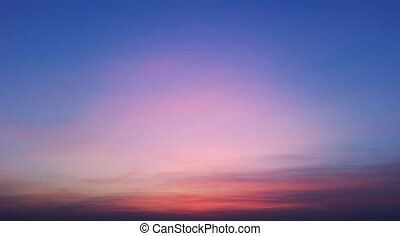 ég, piros, kék, este, szín, napnyugta