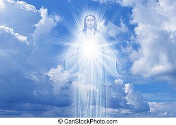 ég, vallás, krisztus, fogalom, jézus