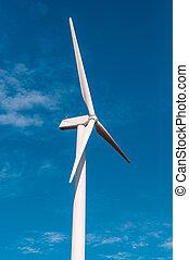 ég, világos, kék, turbina, elektromos, felteker