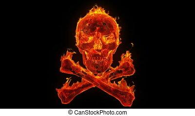 égető, koponya crossbones