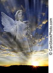 égi, fény, angyal