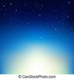 éjszaka ég, csillaggal díszít