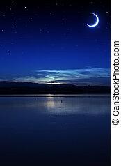 éjszaka, csendes, nyár