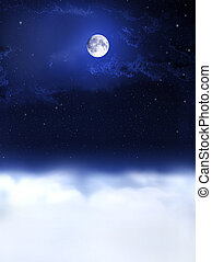 éjszaka, dreams..., hold, fény