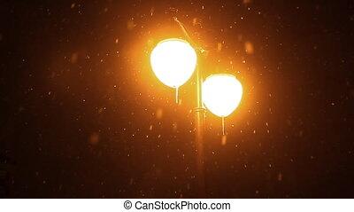 éjszaka, hó, tél
