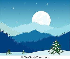 éjszaka, hegy