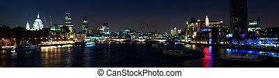 éjszaka, london, város