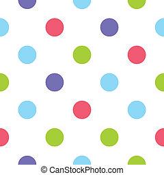 ékezetez, motívum, vektor, polka, színes
