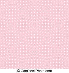 ékezetez, pasztell, seamless, rózsaszínű, polka