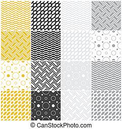 ékezetez, polka, seamless, szarufa, patterns:, geometriai, lenget