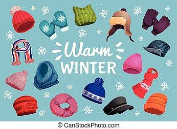 élénk felöltöztet, tél, háttér