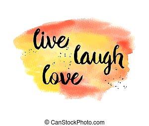 él, love., nevet