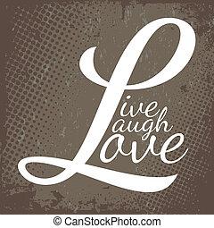 él, szeret, nevet