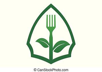 élelmiszer, fegetarians, szerves, jel