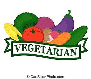 élelmiszer, ikon, vegetáriánus