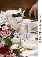 élelmiszer, ital, esküvő