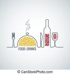 élelmiszer, ital, háttér