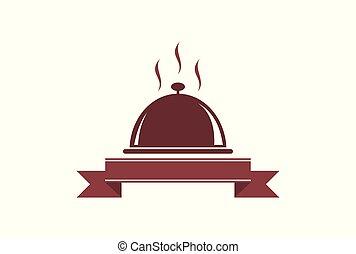 élelmiszer, jel, étterem, ikon, konyha