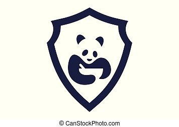 élelmiszer, jel, elvont, panda, ikon