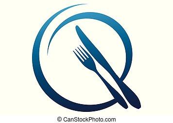 élelmiszer, jel, vektor, ikon