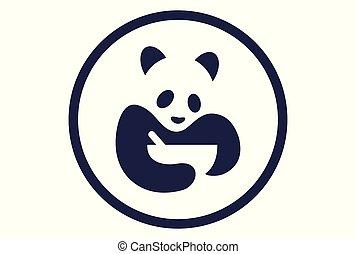 élelmiszer, jel, vektor, panda