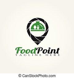 élelmiszer, jel, vektor, tervezés, mutat