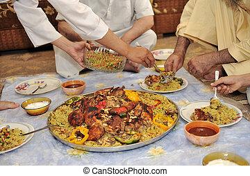 élelmiszer, középső eastern