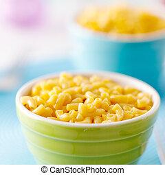 élelmiszer, sajt, makaróni, gyerekek, -