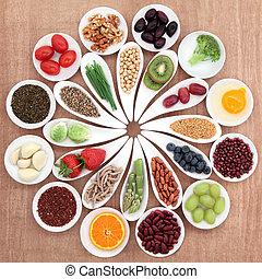 élelmiszer, tál, egészség