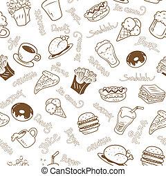 élelmiszer, tapéta, seamless, gyorsan
