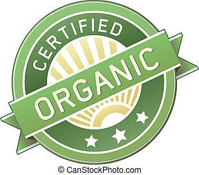 élelmiszer, termék, szerves, vagy, címke