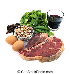 élelmiszerek, iron-rich