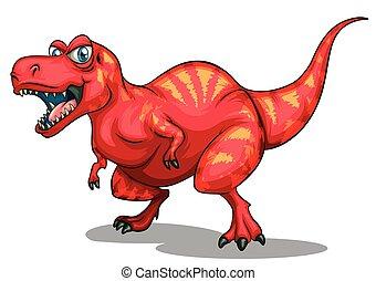 éles, dinoszaurusz, fog