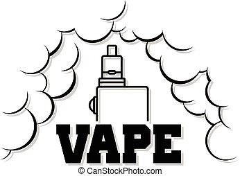 élet, elektromos, vape, -, cigaretta, hadügyminisztérium, gőz, vaporizer