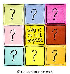 élet, mi, az enyém, purpose?