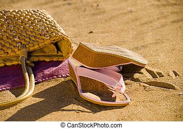 élet, mozdulatlan, tengerpart