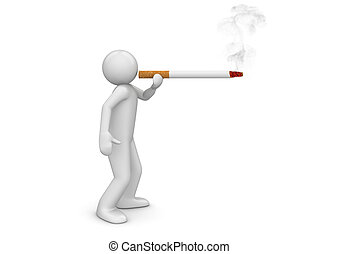 életmód, -, dohányzó, gyűjtés, cigaretta, kidagad