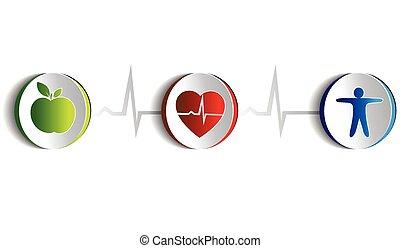 életmód, jelkép, egészséges