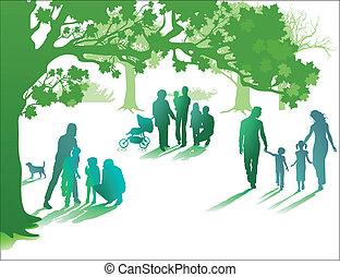 élvez, élet, család, együtt