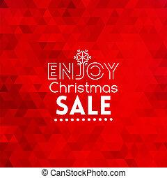 élvez, elvont, kiárusítás, piros háttér, karácsonyi üdvözlőlap
