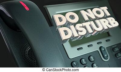 én, zavar, dont, alkalmatlanság, telefon, ábra, hívás, nem, 3