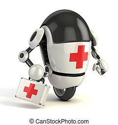 énekel, medikus, robot, elsősegély