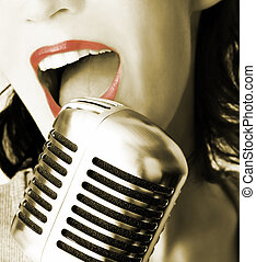 énekes, retro