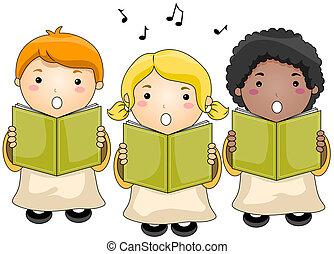 énekkar, gyerekek