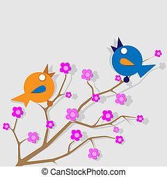 éneklés, 2 madár
